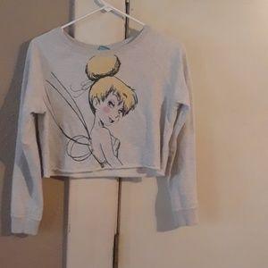 Disney Tink crop sweatshirt